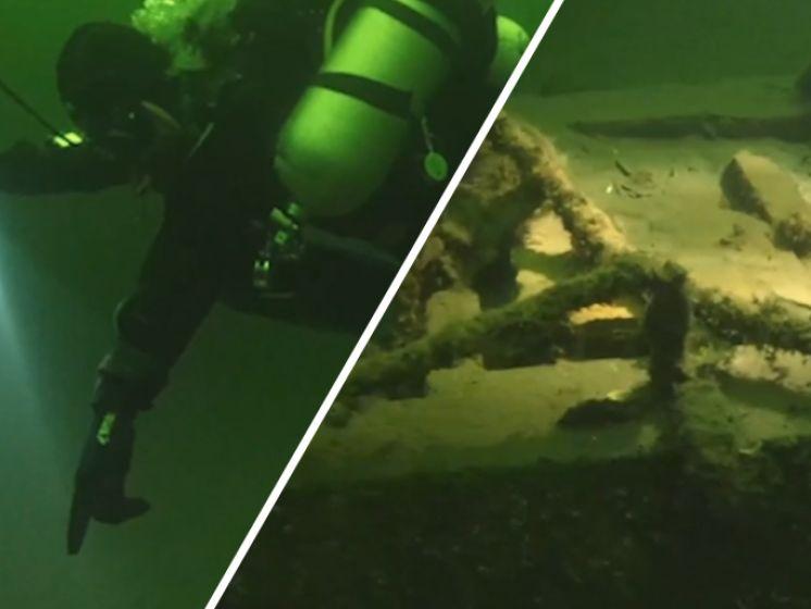 Duikvrienden vinden kustmijnen in Veerse Meer