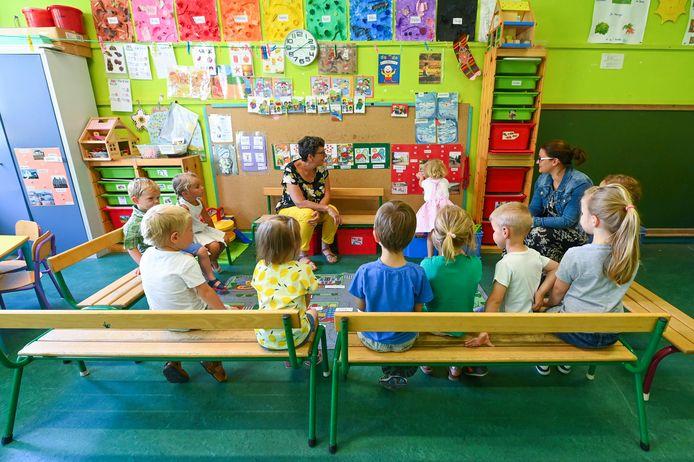 Leerlingen van de lagere school en kleuters zullen vanaf 1 september weer 5 dagen naar school mogen, zelfs bij een opflakkering van het coronavirus.