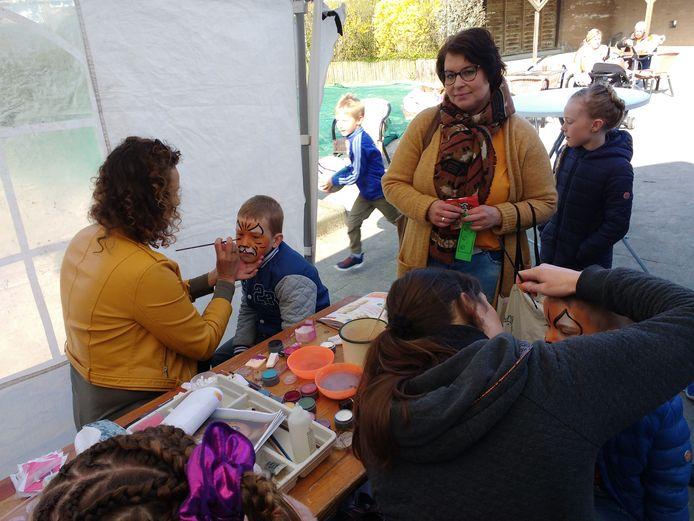 Schminken bij acties van Basisschool 't Klinket en Stichting Koudekerke Samen