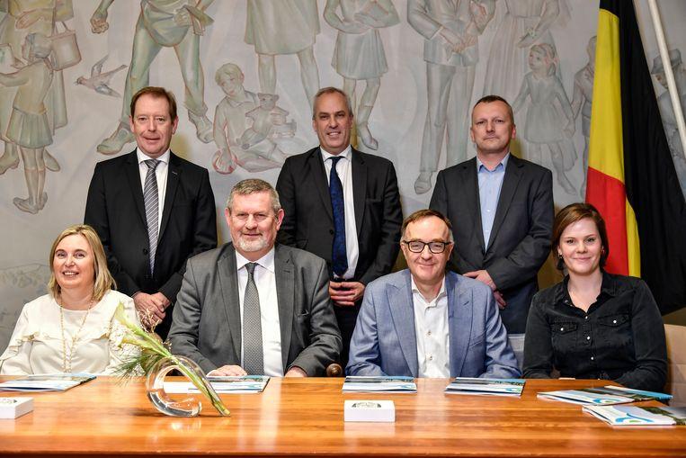 Het schepencollege voor de komende zes jaar in Hamme.