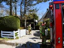 Brand onder carport vakantiewoning in Scharendijke
