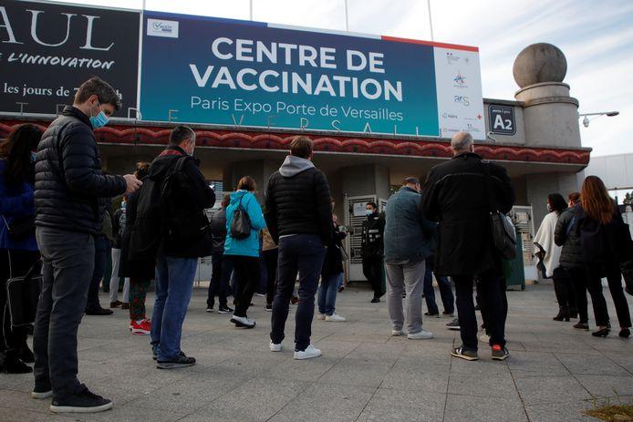 Een vaccinatiecentrum in Parijs.