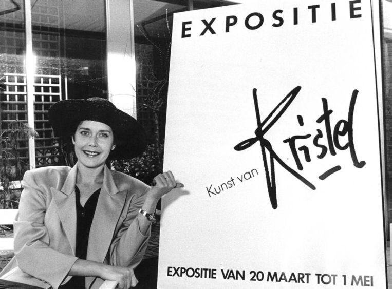 Kunstexpositie met werken van Sylvia Kristel, 1986. Beeld null