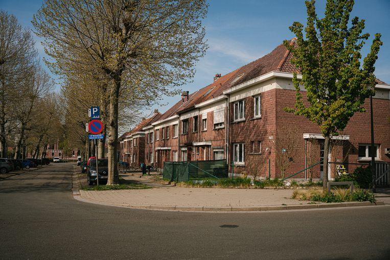 Sociale woningen in de Edisonstraat in Hoboken, Antwerpen. Beeld Wouter Van Vooren
