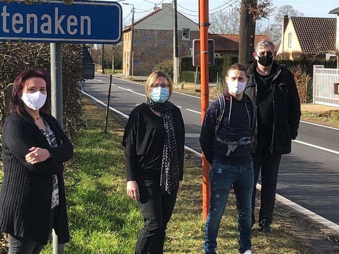 Inge Bollen, Tineke Vaneycken, Pieter Jan Lambrecht en Patrick Quintens van Open Vld Landen willen een GAS-boete kunnen geven aan snelheidsovertreders.