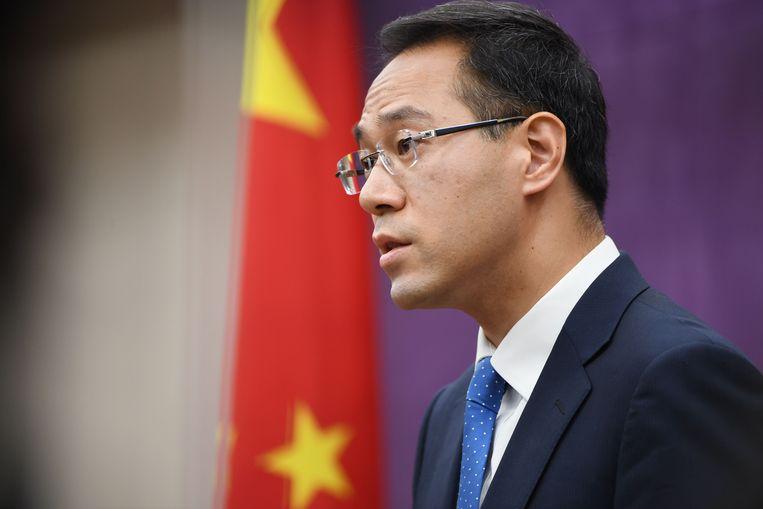 De woordvoerder van het ministerie van Handel, Gao Feng.