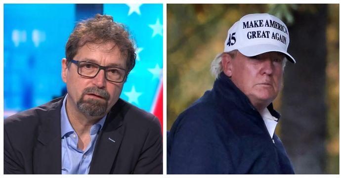 Professor Amerikaanse politiek Bart Kerremans (KU Leuven). Donald Trump trok vandaag naar zijn eigen golfresort in Virginia.