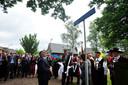 Onthulling van het naambordje van Mamed Mamedovpad in 2012 in aanwezigheid van Azerbeidzjaanse vertegenwoordigers (in het midden burgemeester Hans Janssen).