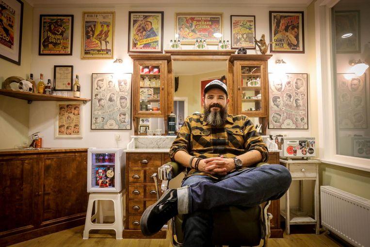 Bjorn Van Hijfte (38) opent een klassieke barbershop in de Aartshertofstraat.