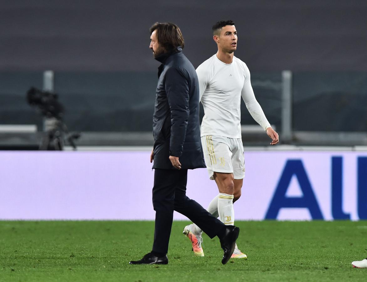 Adnrea Pirlo en Cristiano Ronaldo.