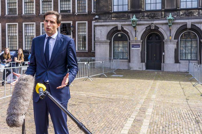 CDA-partijleider Wopke Hoekstra staat komend weekeinde een kritisch partijcongres te wachten.