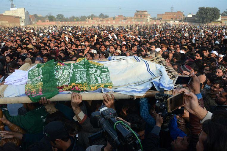 De begrafenis van Zainab Ansari. Beeld AFP