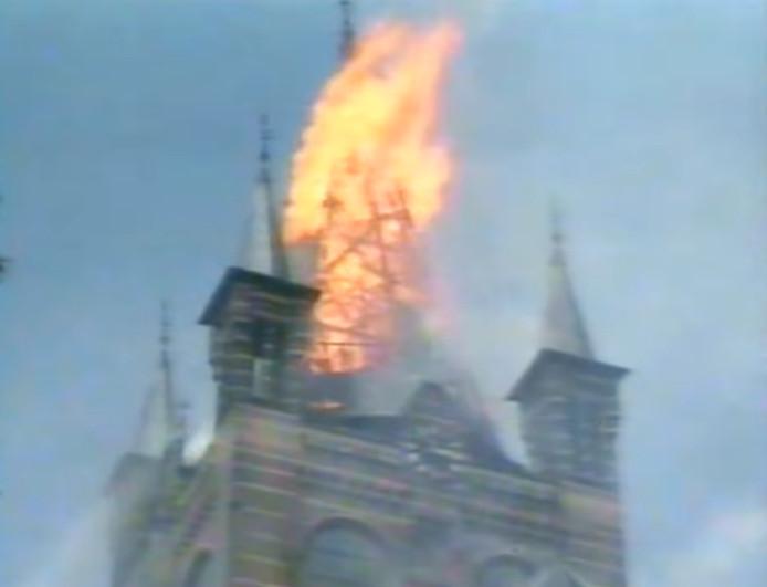 De brand in de kerk in Oisterwijk.