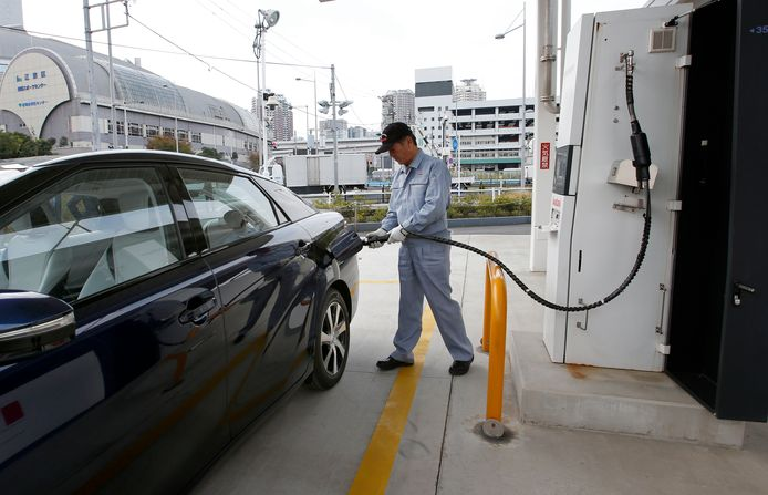 Een waterstoftankstation in Japan.