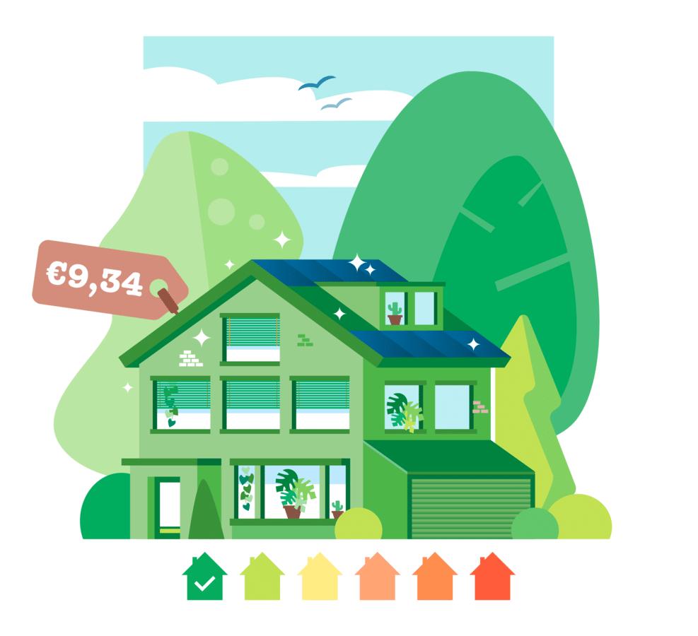 Dankzij een warmtenet en een elektrische warmtepomp in combinatie met zonnepanelen op het dak, is Niels Dekker nauwelijks geld kwijt aan energie.