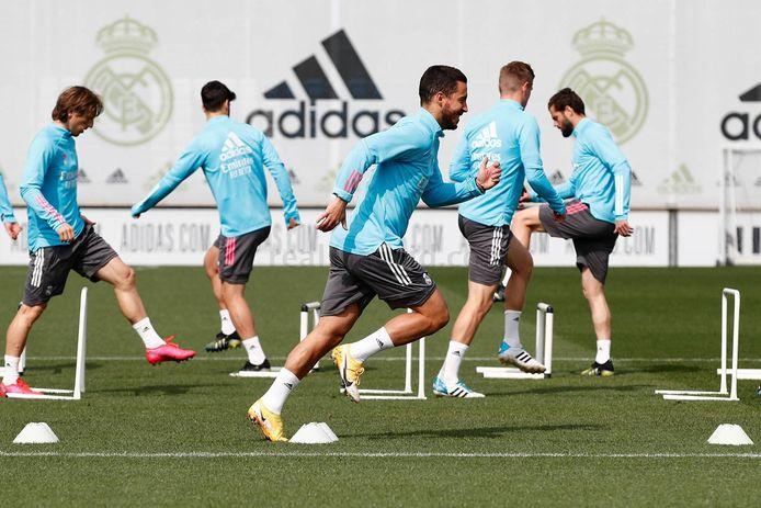 Eden Hazard op training bij Real.