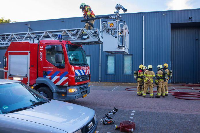 Brand in houtverwerkingsbedrijf in Schijndel.