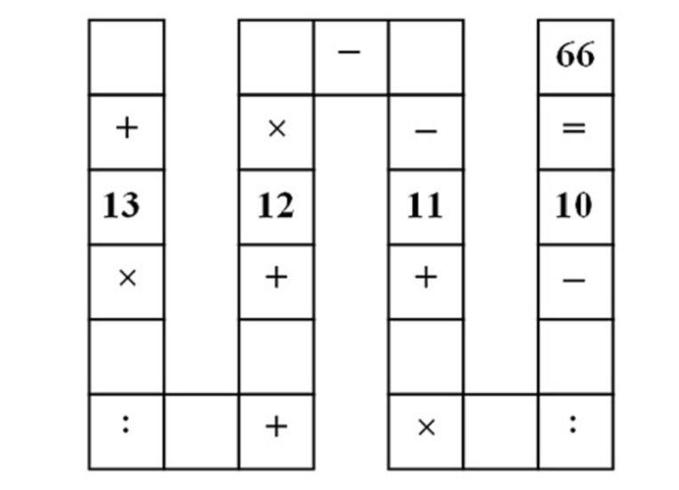 Het Aziatische wiskunderaadsel dat het ook tot internethit in Europa schopte. Probeert u het vooral zelf. Beeld kos