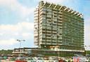 Voormalig Philipskantoor in 1975, toen nog hoofdkantoor van Philips Nederland op Vredeoord, aan de Boschdijk. Hier nog met de hele begane grond-bebouwing die begin deze eeuw werd gesloopt.