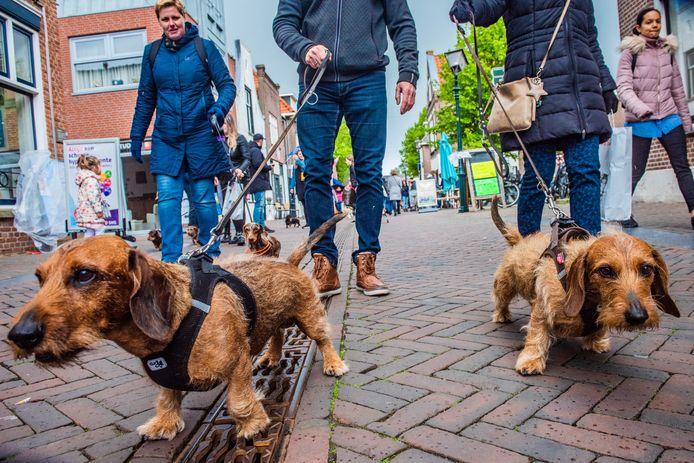 De teckeldag trekt veel bezoekers naar de Dorpsstraat.