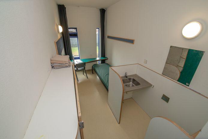 Een kamer in jeugdgevangenis De Hunnerberg.