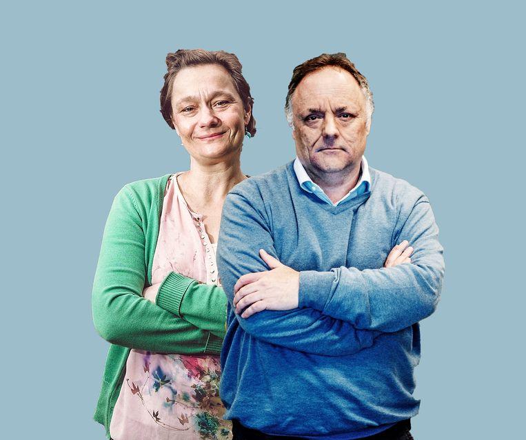 Virologen Erika Vlieghe en Marc Van Ranst maken deel uit van de Groep van Experts belast met de Exitstrategie (GEES). Beeld Tim Dirven