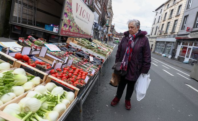Le marché hebdomadaire de Charleroi