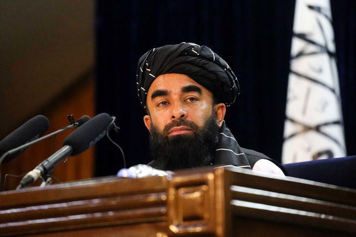 Zabihullah Mujahid, woordvoerder van de taliban.