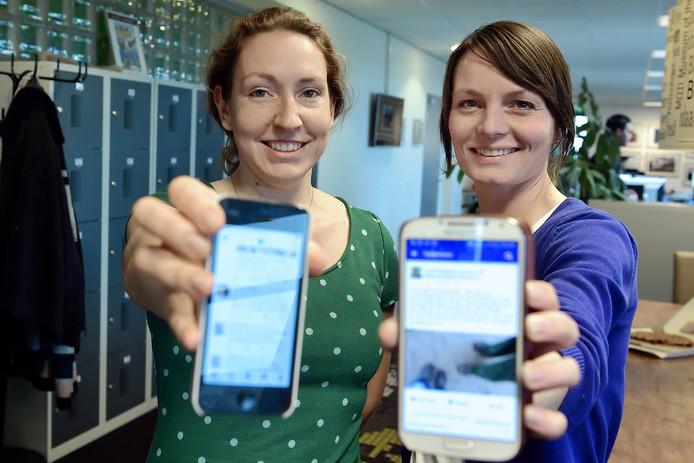 Vastenactie met verslaggeefster Nicole Froeling(l) en Jamie Nederpel (r) stoppen 40 dagen met social media.