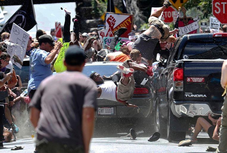 Beelden van de aanslag in Charlottesville in 2017.
