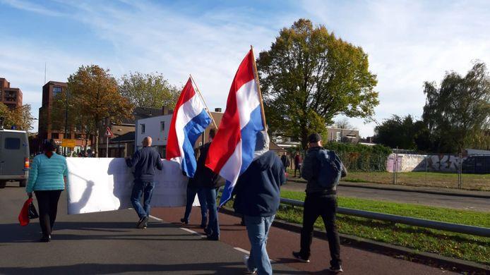 De demonstratie in Enschede