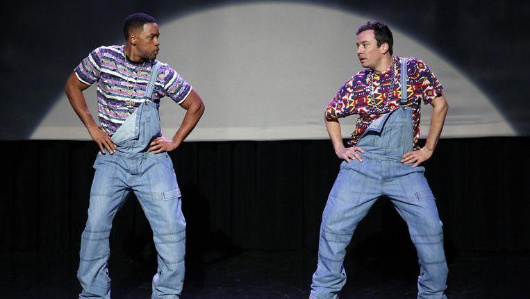 De evolutie van hip-hop dancing is het populairste filmpje uit The Tonight Show tot nu toe. Beeld ap