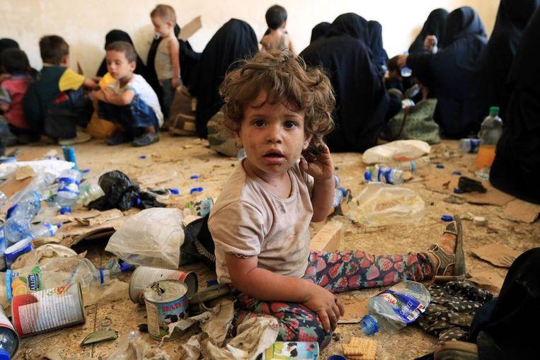 Beeld ter illustratie: kinderen van voormaligeIS-strijders in al-Ayadiya, Irak.