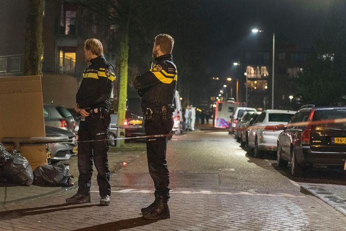 Beeld van na de schietpartij op Wittenburg in 2018, waarbij de onschuldige Mohamed Bouchikhi om het leven kwam.