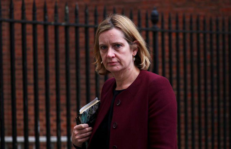 De Britse minister van Binnenlandse Zaken Amber Rudd  Beeld REUTERS