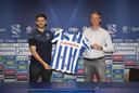 Technisch manager Gerry Hamstra afgelopen zomer samen met Joaquin Fernandez.