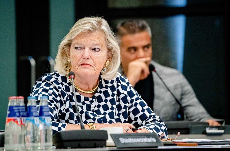 Demissionair staatssecretaris Ankie Broekers-Knol van Justitie en Veiligheid. Beeld ANP
