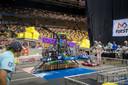 Eén van de robots tijdens de wedstrijd in Houston.