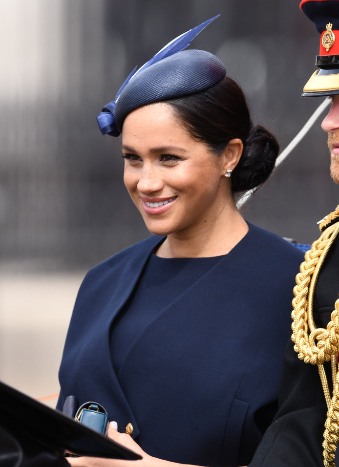 Trooping the Colour. The Duke and Duchess of Sussex attending Trooping The Colour, Buckingham Palace, London. Picture credit should read: Doug Peters/EMPICS URN:43393443 ! only BELGIUM !