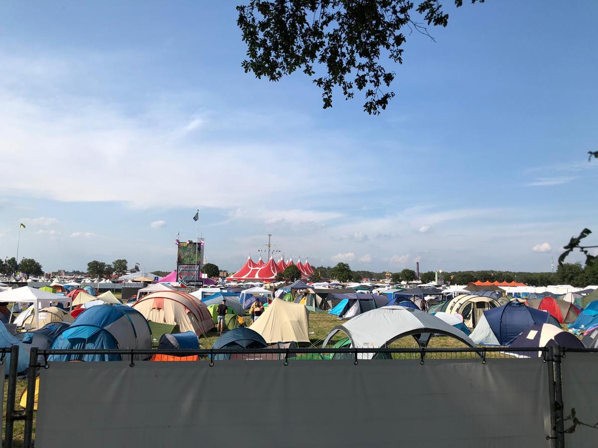 Het campingterrein van de Zwarte Cross