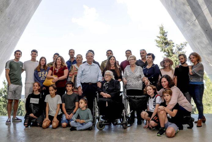 De ontmoeting in het Yad Vashem Holocaust Memorial museum in Jeruzalem.