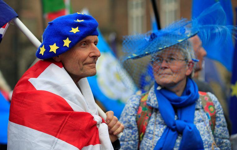 Demonstranten tegen de brexit. Beeld REUTERS