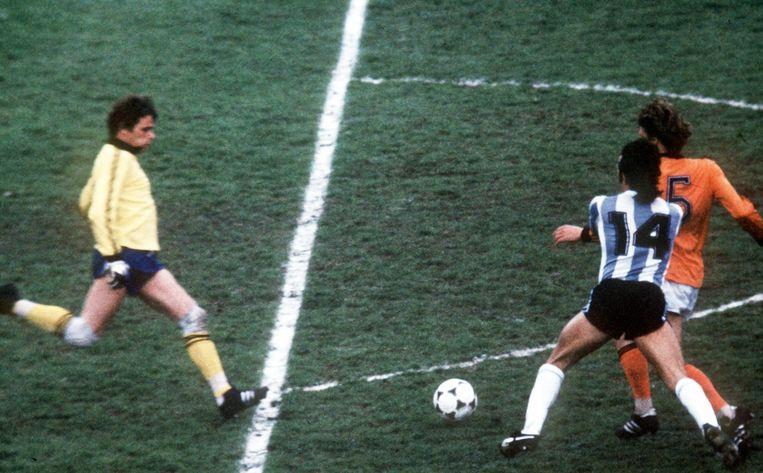 Jan Jongbloed tijdens de WK-finale in 1978. Beeld ANP