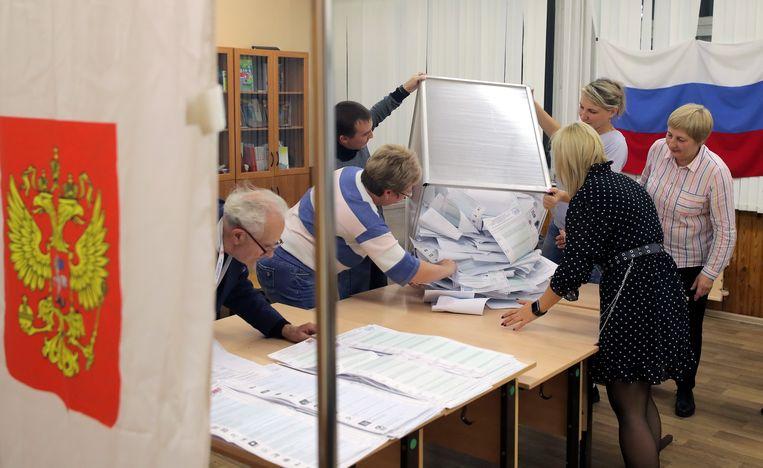 Stemmen tellen. Beeld EPA