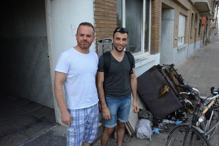 Khalaf Mutassem en Mustafa Al-Saffar konden net op tijd ontsnappen.