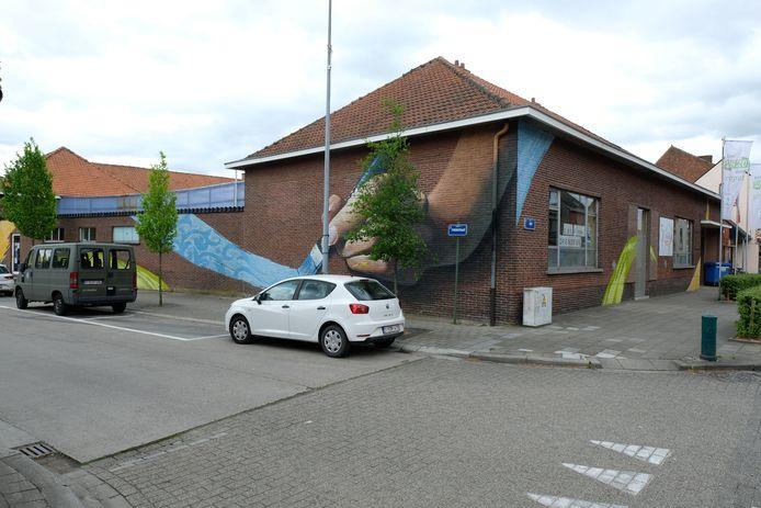 Het academiegebouw in Bonheiden