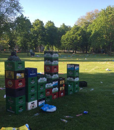 Een muur van bierkratjes, wildplassers en -poepers: ongekende puinhoop in Utrechtse parken
