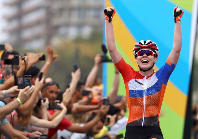 Anna van der Breggen tijdens de Spelen van Rio.