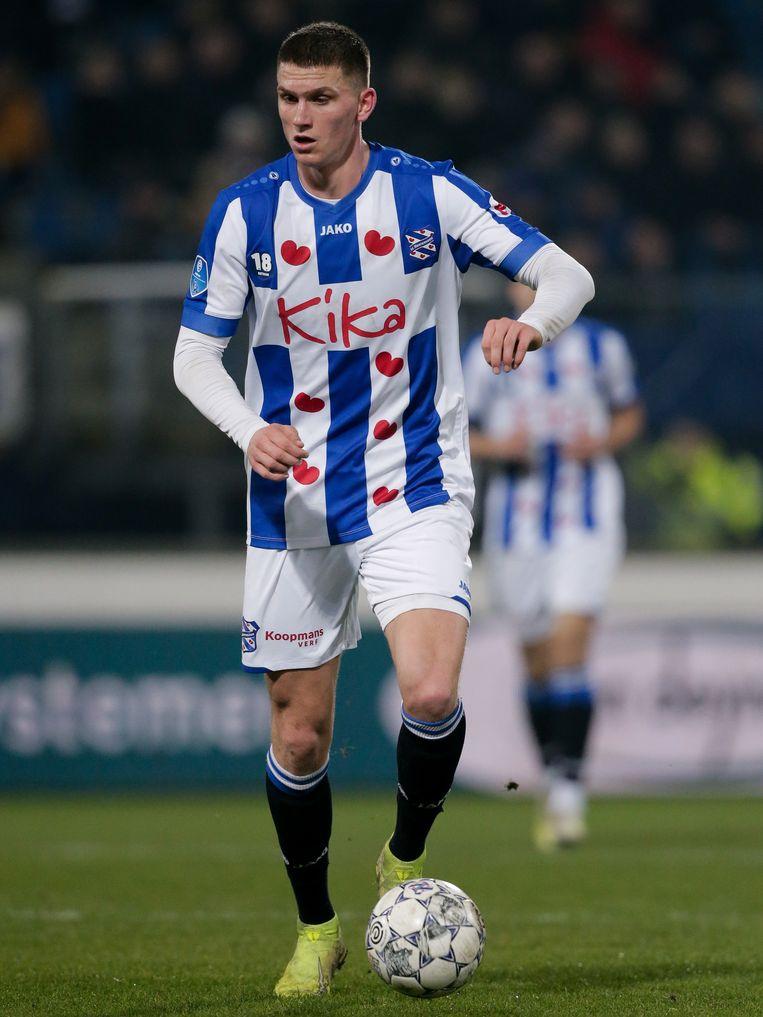 Sven Botman werd het afgelopen seizoen door Ajax verhuurd aan SC Heerenveen. Beeld BSR Agency