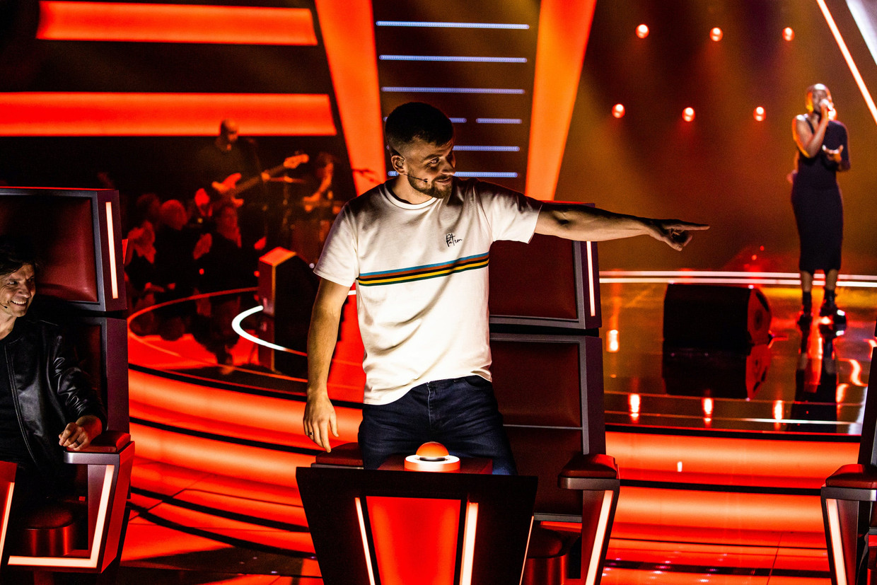 Tourist LeMC in 'The Voice' Beeld VTM